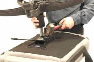 تعمیر و بازسازی صندلی اداری در محل